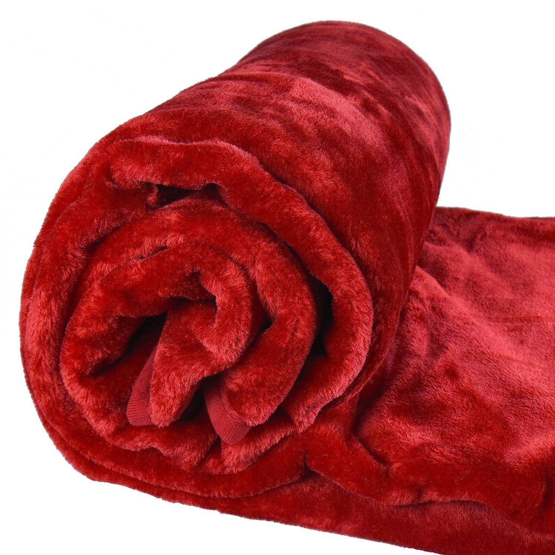 ASAB - Grande couverture de luxe super douce en peluche - Couvre-lit et couvre-sofa chaud en fausse fourrure de vison - Décoration de maison - 200 x 240 cm