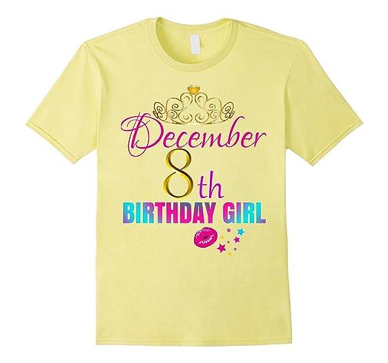 Mens Women CUTE December 8th Birthday Girl Party Shirt Idea 2XL Lemon
