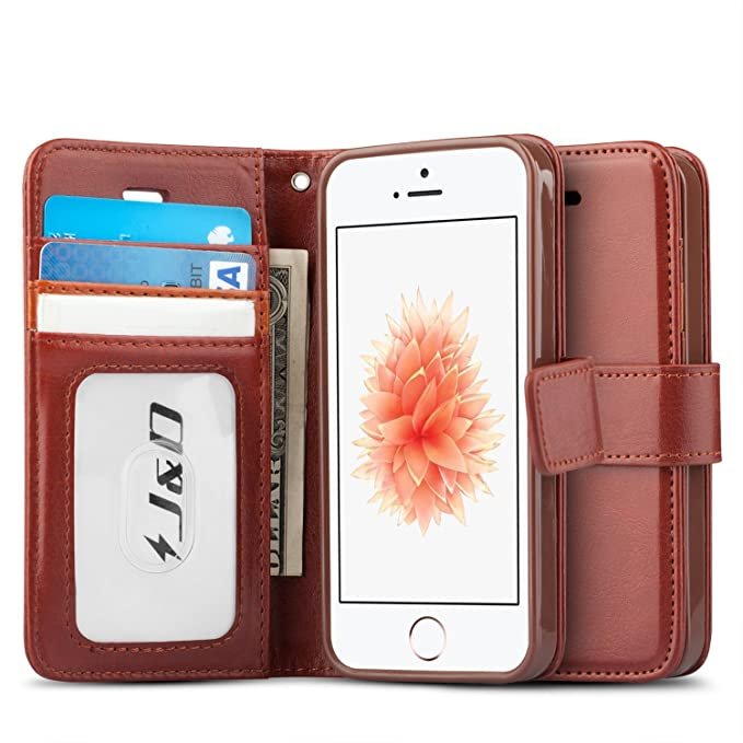 1 opinioni per JD Custodia iPhone SE, [Portafoglio Stand] [Sottile Adatta] Protettiva Robusta