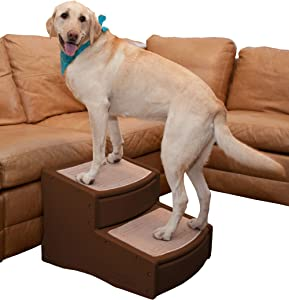 Pet Gear Easy Step II Extra Wide Pet Stairs, 2-step/for cats and dogs up to 200-pounds