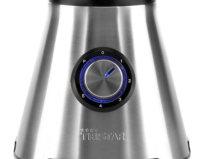 Tristar BL-4436 Batidora de Vaso, 850 W, 1.5 litros, Vidrio, 5 Velocidades, Negro, Acero Inoxidable: Amazon.es: Hogar