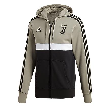 5b8150202 Amazon.com   adidas 2018-2019 Juventus 3S Full Zip Hoody (Sesame ...