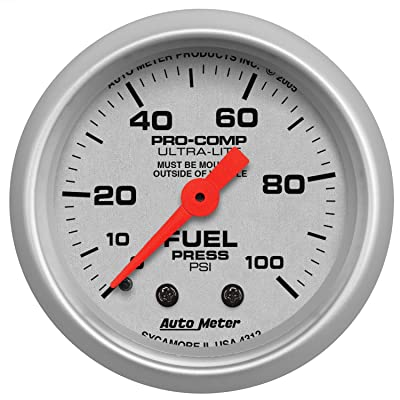 Auto Meter 4312 Ultra-Lite Mechanical Fuel Pressure Gauge: Automotive