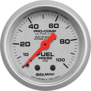 Auto Meter 4312 Ultra-Lite Mechanical Fuel Pressure Gauge