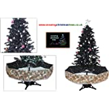 Snowing Christmas Tree with Black Umbrella Base - 2016 - 5 New Features