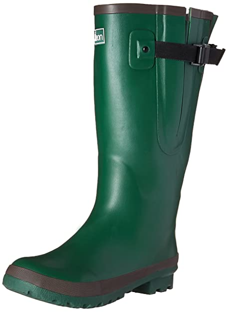 50552214353 Jileon Extra Wide Calf Rubber Green Rain Boots for Women-Widest Fit Boots  in the US-up to 21 inch calves-Wide in the Foot and Ankle-Durable Boots for  All ...