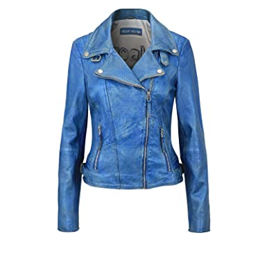 Freaky Nation Damen Jacke New Love in Sky Blue Echt Leder (38 ... 3fe3793ccf