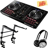 Pioneer DDJ-RB Portable 2-Channel Controller Bundle with Stand, Headphones, Polishing Cloth