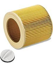 Patronenfilter Patronen für Nass-/ Trockensauger Nasssauger/Mehrzwecksauger/Waschsauger Kärcher A 2204 2254 2101 2201 WD2 WD3 MV2 MV3 WD2.200 WD3.500 P WD 3.200, WD 3.500 P wie 6.414-552.0