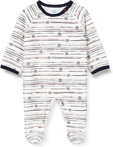 Sanetta Baby-Jungen Overall Broken White Kleinkind-Schlafanz/üge