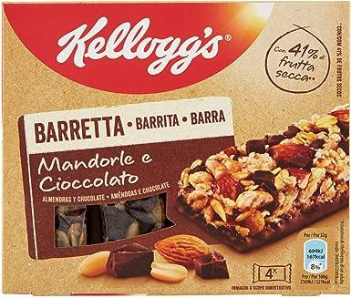 KELLOGG`S barrita de cereales almendras y chocolate caja 128 gr ...