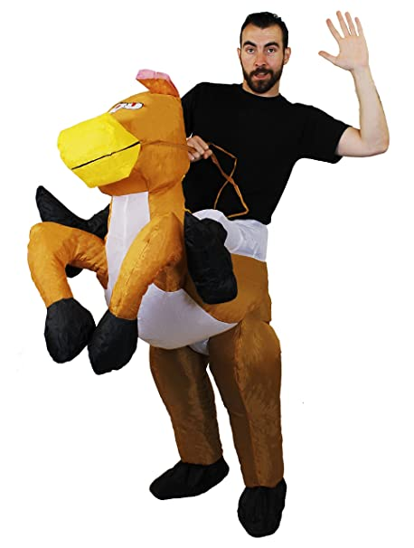 Amazon.com: Disfraz hinchable de caballo de ILOVEFANCYDRESS ...