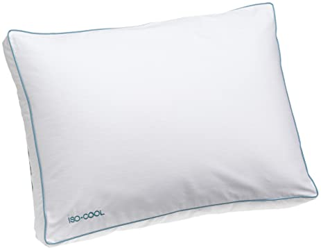 isocool side sleeper polyester pillow with outlast cover