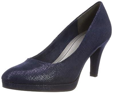 ae6b662d08 MARCO TOZZI Women's 22404 Closed Toe Heels, Blue (Navy Metallic 824), 3.5