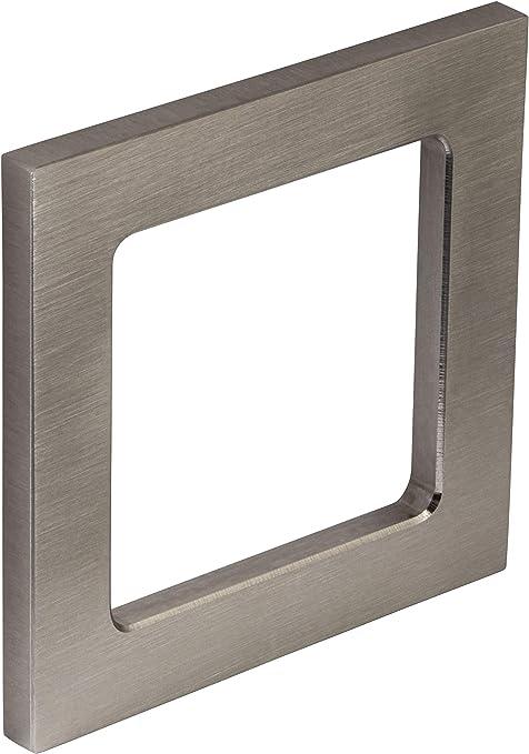 Gedotec Manija de Puerta de Vidrio Carcasa Tirador Acero Inoxidable Mate 1.4301 Entrada para Puertas de Cristal ANGULOSO 2 Tamaños para Pegar 75 x 75 x 6 mm: Amazon.es: Hogar