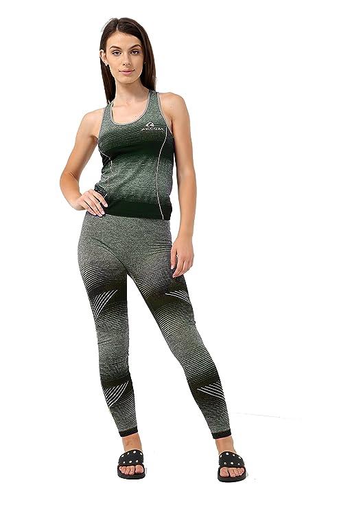 19c93bee33d Ladies Womens 2 Pcs Gym Sports Leggings Crop Top Fitness Yoga Pants Set UK  6-