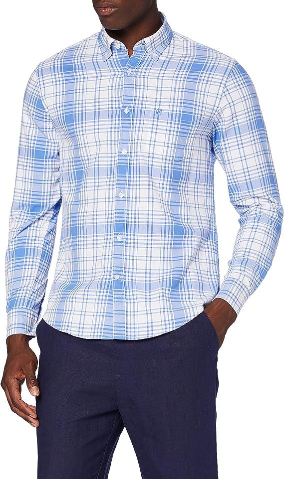 Cortefiel Oxford Intone Camisa Casual, Azul (Azul Medio 12 ...