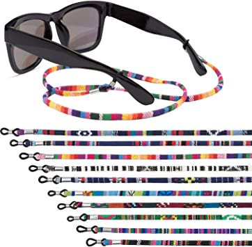 12 Pieces Glasses Strap Eyewear Retainer Sunglass Straps Glasses Holders Necklace Multicolored Safety Glasses Cord Lanyard for Men and Wom