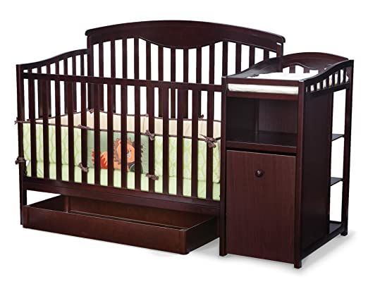 Delta Shelby Classic Crib And Changer, Espresso Cherry (Discontinued by Manufacturer)