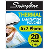 "Swingline Thermal Laminating Sheets/Pouches, 5"" x 7"" Pouch, 20 Pack (3202063)"