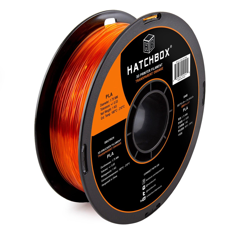 hatchbox 1,75 mm transparente naranja PLA de filamento para ...