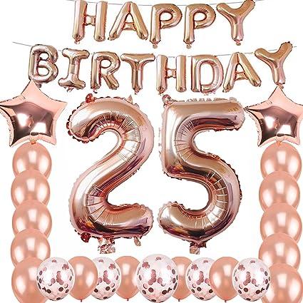 Amazon.com: 25 cumpleaños decoraciones suministros de fiesta ...