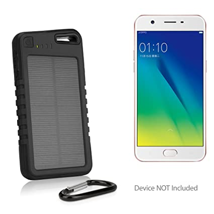 Oppo A57 Battery, BoxWave [Solar Rejuva PowerPack (5000mAh)] Solar Powered  Backup