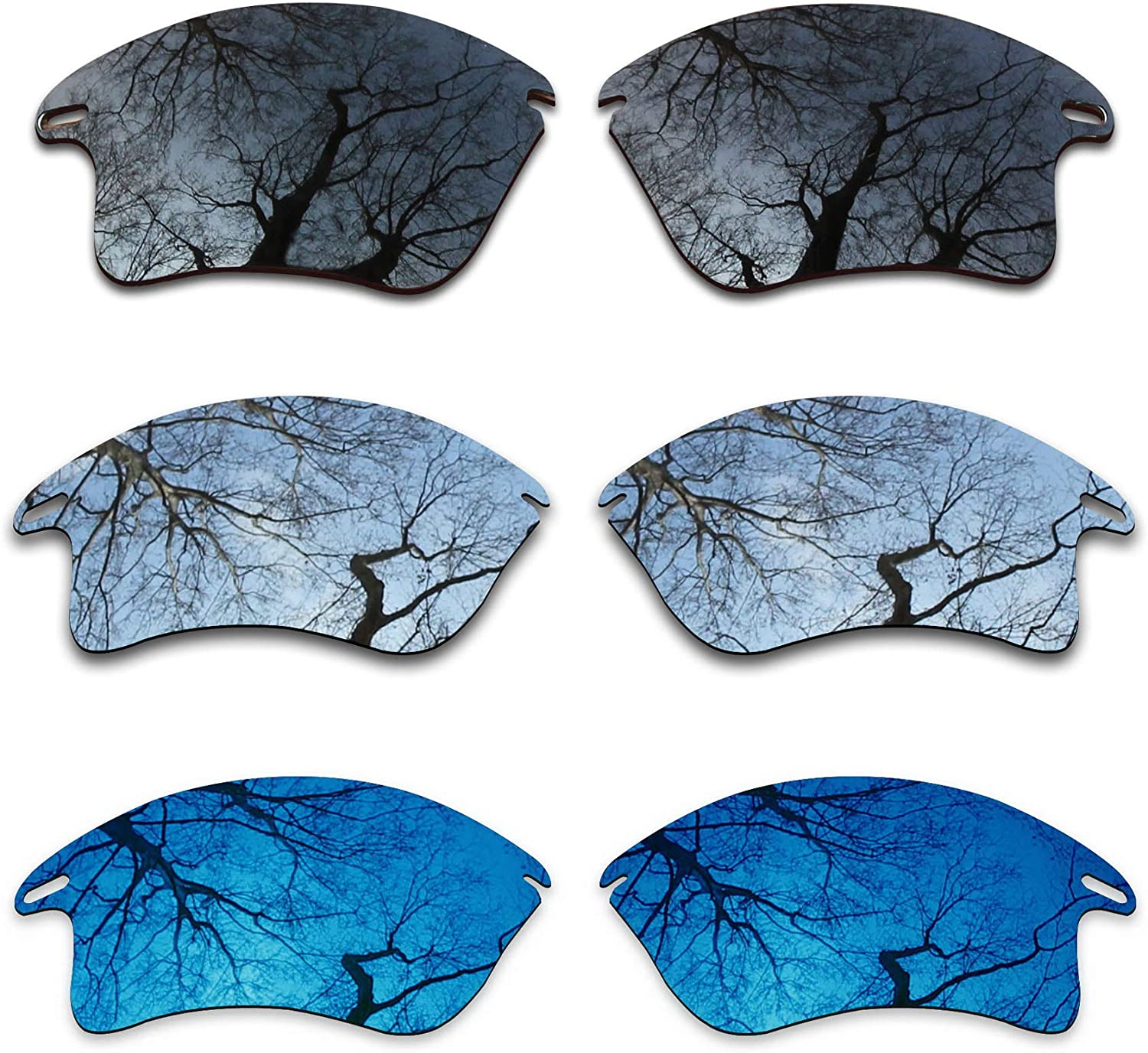ToughAsNails 3 Pair Polarized Replacement Lenses for Oakley Fast Jacket XL Pack-BSM10