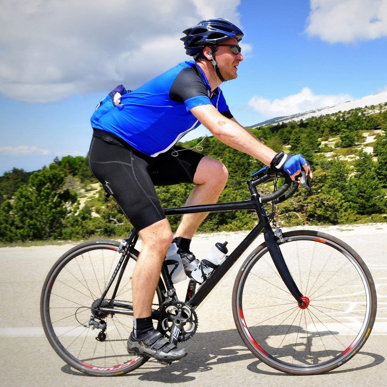 Pantalones de compresi/ón fr/íos Sportneer Pantalones Cortos de Ciclismo Pantalones de Ciclismo con Acolchado Pantalones de Ciclista Acolchados