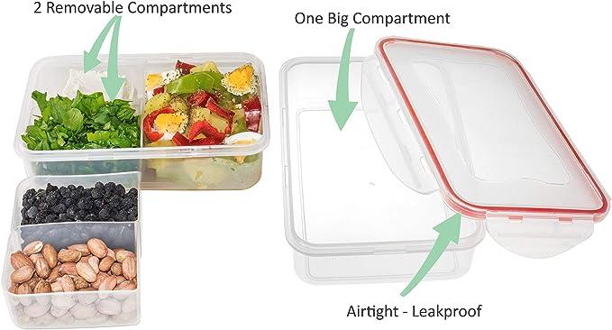 Amazon.com: Caja bento para almuerzo. Recipiente para ...