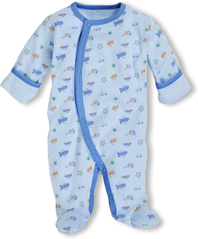 Playshoes Baby-Jungen Schlafoverall Bleu Allover Schlafstrampler
