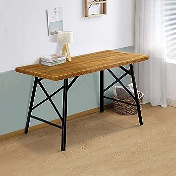 Amazon.com: PrimaSleep 30 Inch Wood and Metal Tall Table, Brown