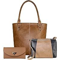 Fargo Fine Line PU Leather Women's Handbag With Sling Bag And Hand Clutch Combo Of 3 (FGO-157)