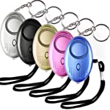 Aboat 5 PACK 130db Personal Security Alarm Keychain with LED light, Emergency Self-Defense Security Alarm Providing Powerful Safety and Property Assurance for Women/Kids /Elderly/Girls /Explorer