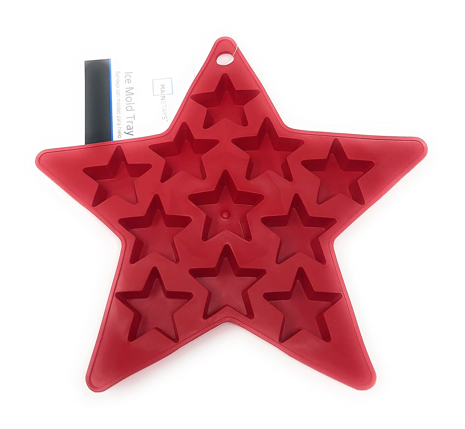 Amazon.com: Silcone Ice Cube Shaped Mold Tray (Just Red Star): Kitchen & Dining