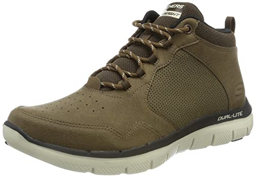 Skechers Flex Advantage 2.0, Zapatillas Altas para Hombre, Marrón (Chocolate), 39