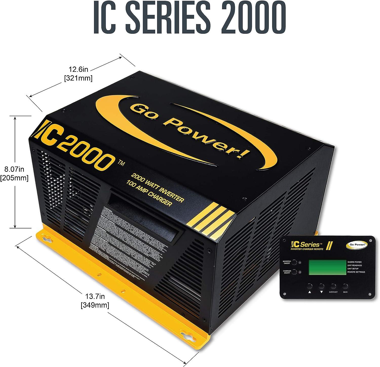 GO POWER! GP IC2000 12 PKG Pure Sine Wave Inverter (2000