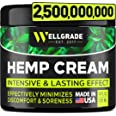 Hemp Cream 4 fl oz - Made in USA - Natural Hemp Extract Cream - for Discomfort in Knees, Joints and Lower Back - Hemp Oil Ext
