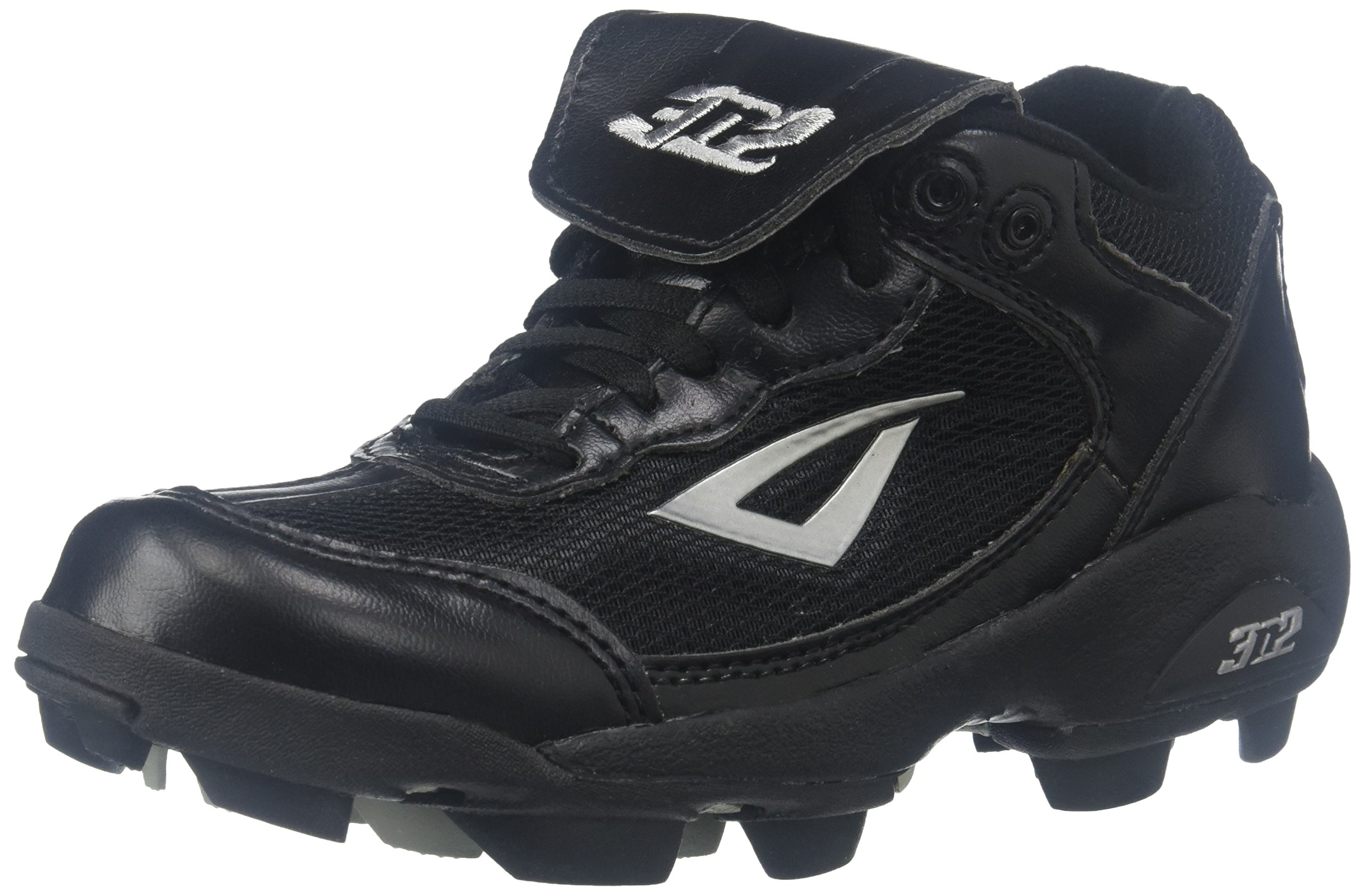3N2 Youth Rookie Shoes, Black/Silver, Size 2 by 3N2