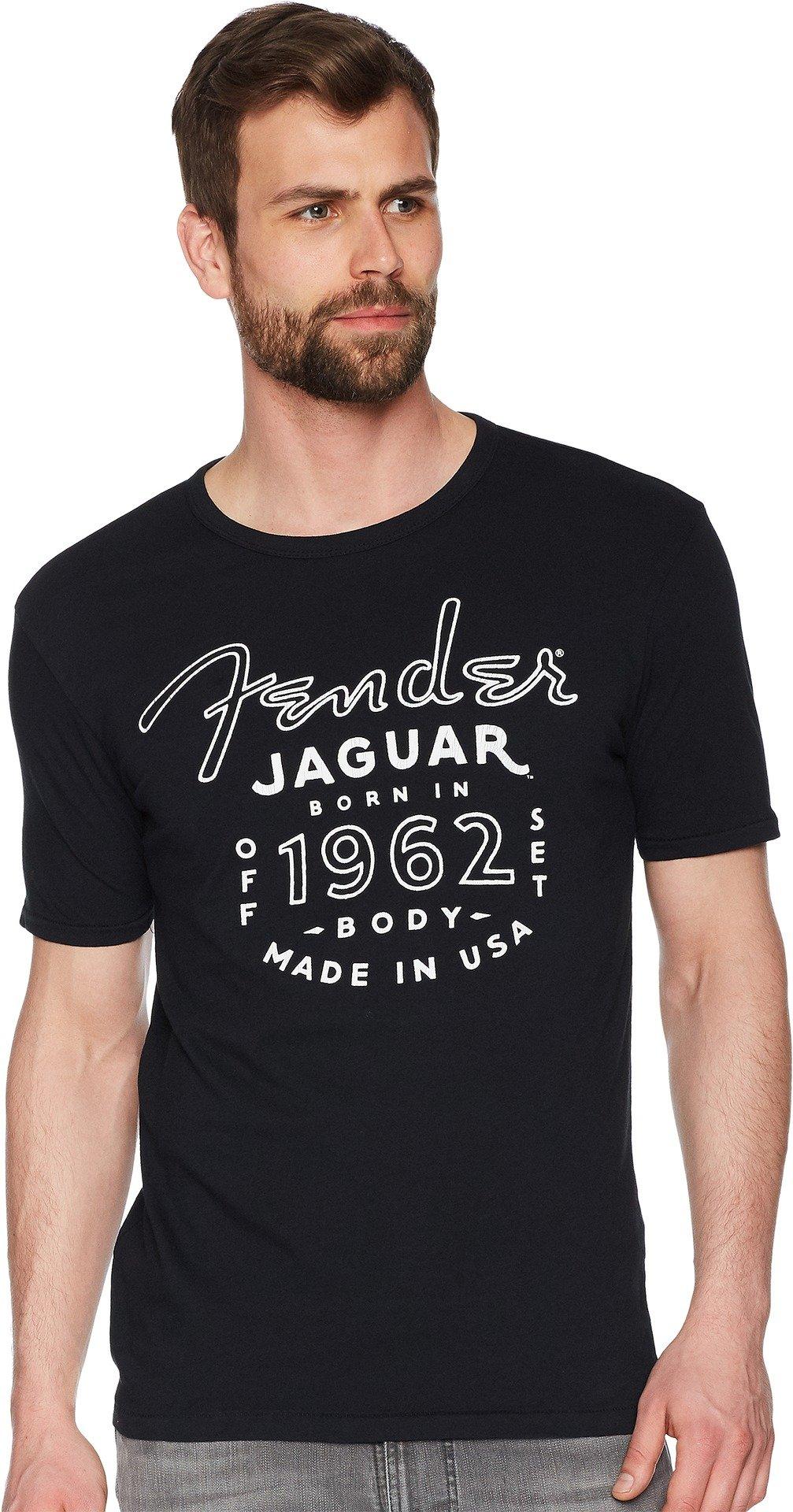 Lucky Brand Men's Fender Jaguar Graphic Tee, Jet Black, L