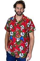 King Kameha   Funky Chemise Hawaïenne   Hommes   XS - 12XL   Manche-Courte   Poche-Avant   Hawaiian-Imprimer   Perroquet Cerise   couleurs variées