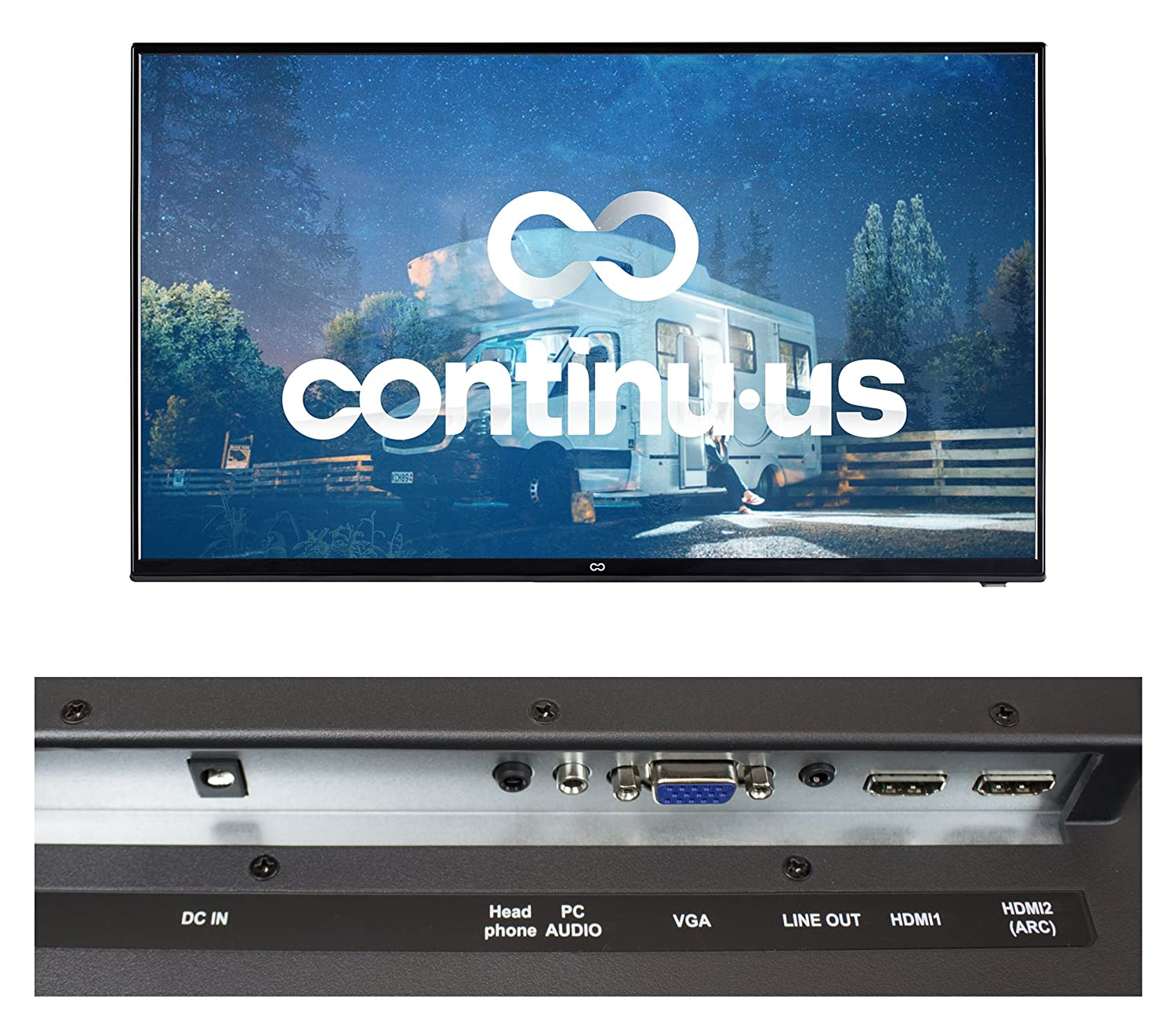 Continuus 28 12 Volt Hd Television Led Flat Screen Wiring Diagram Camper Stuff Pinterest Us Tv Ideal For Rvs Campers Motorhomes All Mobile Vehicle Use 12v Car Cord Technology