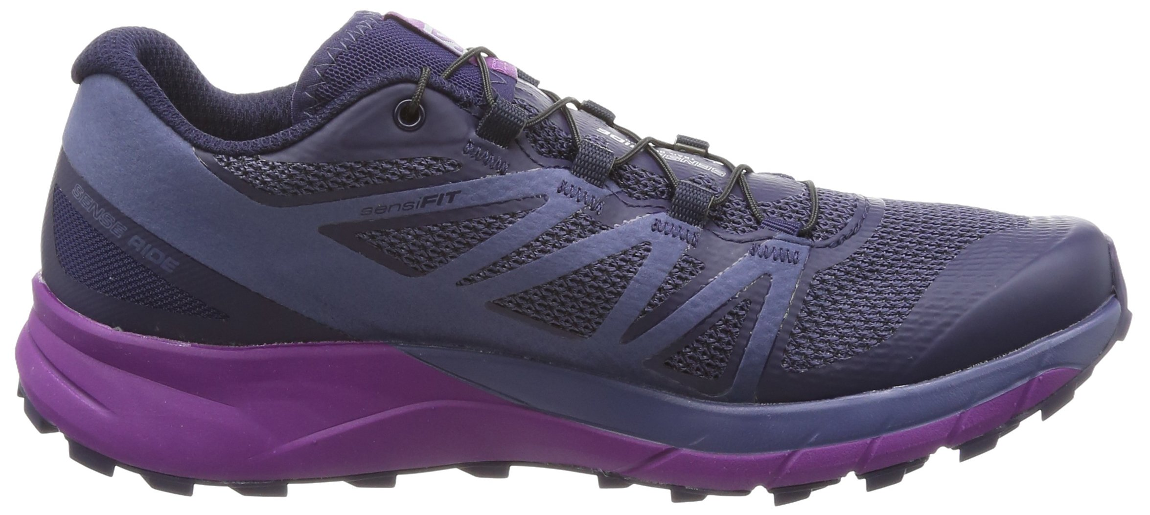 Salomon Sense Ride Trail Running Shoe - Women's Evening Blue/Crown Blue/Grape Juice 6.5 by Salomon (Image #6)
