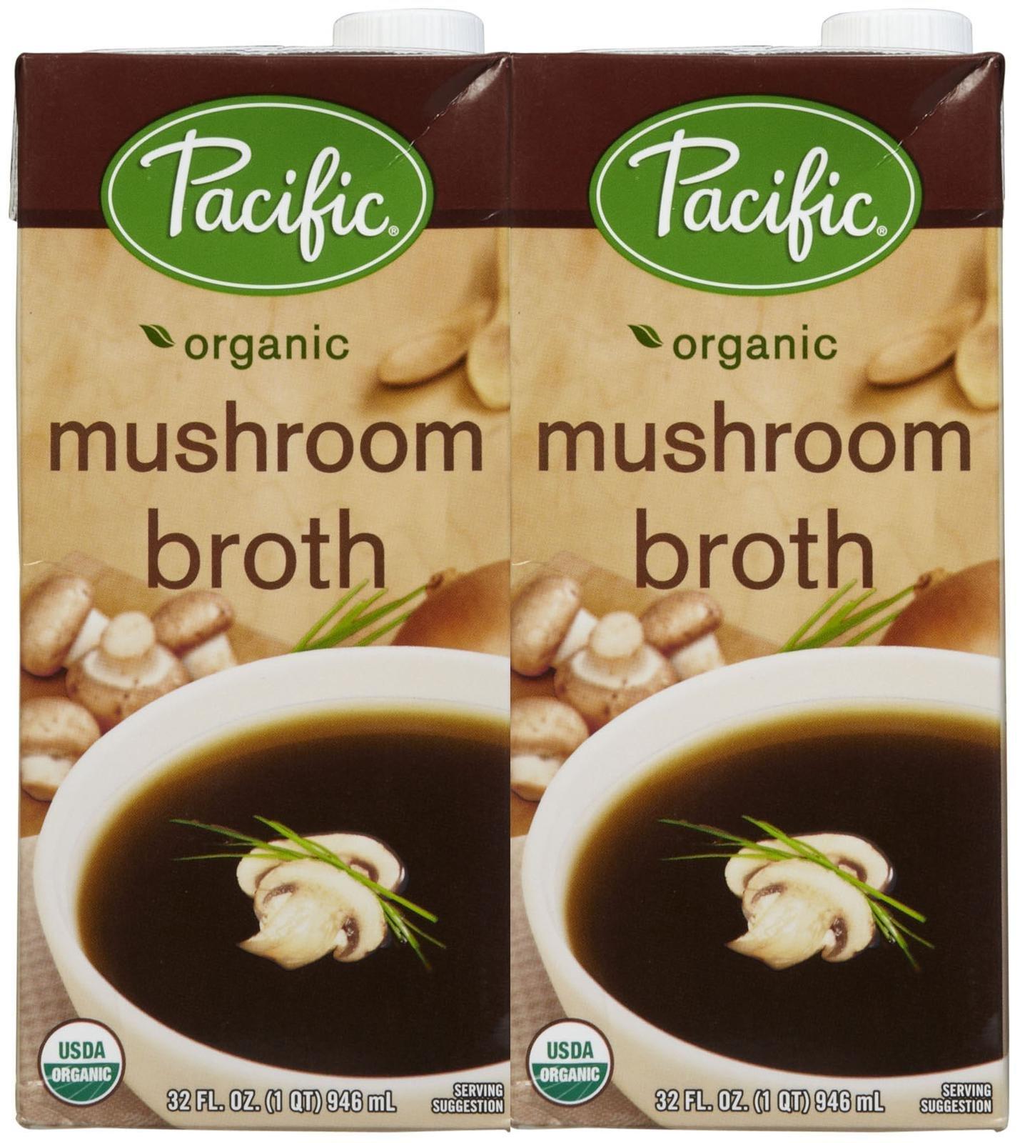 Pacific Natural Foods Organic Mushroom Broth - 32 oz - 2 pk