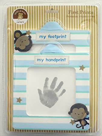 Amazon.com : Carter\'s Child of Mine Baby Boy First Handprint and ...