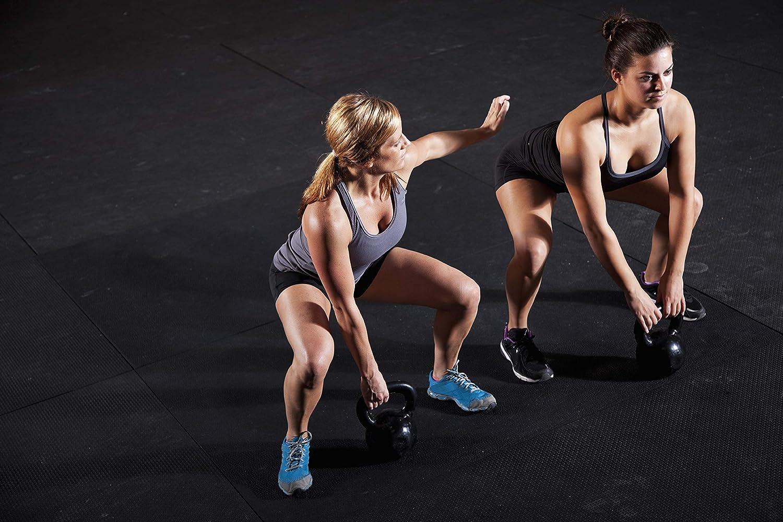 POWRX Kettlebell 2-20 kg Base con Gommini Antiscivolo /& Presa Antiscivolo Ideale per Esercizi di /»Functional Fitness/« PDF Workout