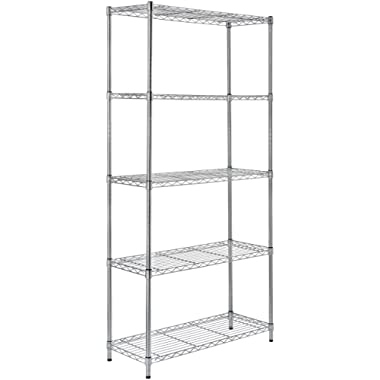 AmazonBasics 5-Shelf Shelving Unit - Chrome