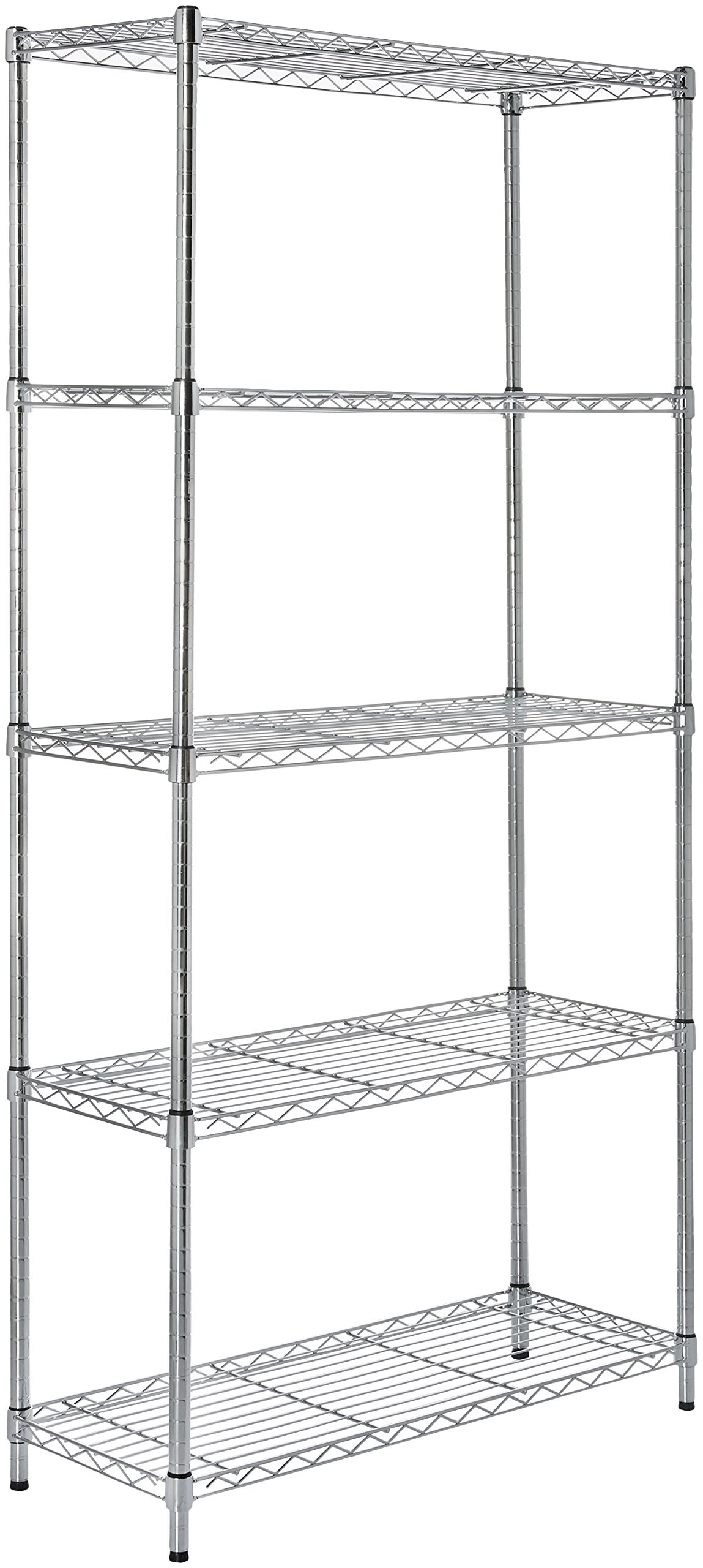 AmazonBasics 5-Shelf Shelving Unit - Chrome by AmazonBasics (Image #1)