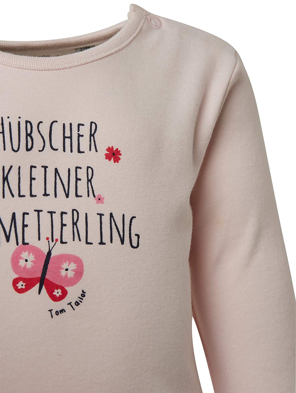 TOM TAILOR f/ür M/ädchen T-Shirts//Tops Langarmshirt mit Brust-Print