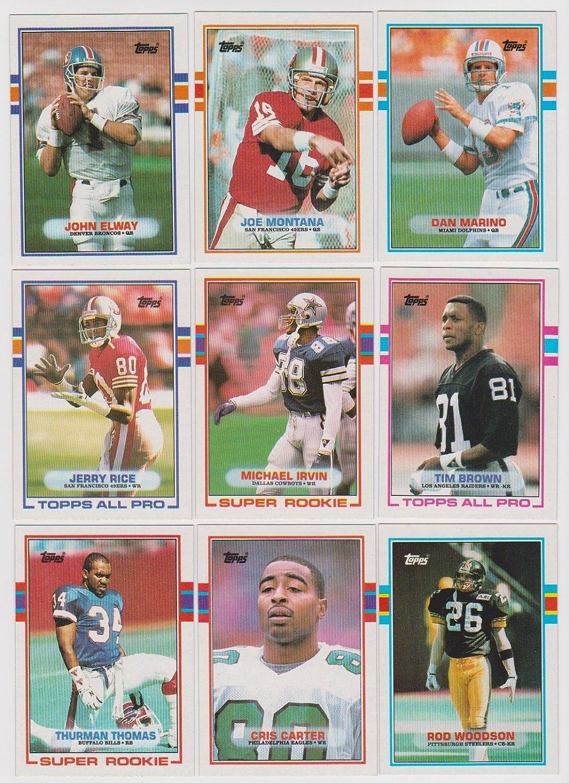 1989 B00G2XWRTG Topps NFL Football Football Dan Completeミント396カード手部単位セット。このセットはPacked with Stars and殿堂入りIncluding Dan Marino、ジョーモンタナ、スティーブヤング、ジェリーライス、ジョンエルウェイ、ジムケリー、Doug Flutie、Bo Jackson and More。たくさんのルーキーカードのティムブラウン、クリスカーター、マイケルIrvin、サーマントーマス、ロッドWoodsonおよびその他多数 B00G2XWRTG, 家具のe-Line:b5a746d6 --- harrow-unison.org.uk